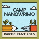 camp nanowrimo participant button
